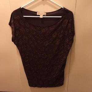 XS Michael Kors brown sequin top